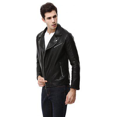Man Fashion Leather JacketMens Jackets &amp; Coats<br>Man Fashion Leather Jacket<br><br>Closure Type: Zipper<br>Clothes Type: Leather Jacket<br>Embellishment: Zippers<br>Materials: PU<br>Occasion: Daily Use<br>Package Content: 1 x Leather Jacket<br>Package Dimension: 45.00 x 60.00 x 1.00 cm / 17.72 x 23.62 x 0.39 inches<br>Package weight: 1.0200 kg<br>Pattern Type: Others<br>Product weight: 1.0000 kg<br>Seasons: Autumn,Winter<br>Shirt Length: Regular<br>Sleeve Length: Long Sleeves<br>Style: Fashion<br>Thickness: Medium thickness