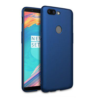 Buy BLUE Luanke Solid Color Style Phone Cover Case for OnePlus 5T for $3.57 in GearBest store