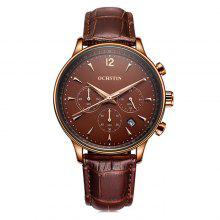 OCHSTIN GQ050A Men Business Leather Band Quartz Watch