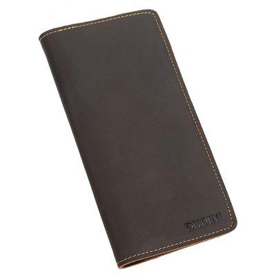 DUDINI Men Retro Slim Genuine Leather Long WalletBackpacks<br>DUDINI Men Retro Slim Genuine Leather Long Wallet<br><br>Brand: DUDINI<br>Features: Wearable<br>For: Daily Use, Shopping, Traveling<br>Gender: Men<br>Material: Genuine Leather<br>Package Size(L x W x H): 21.00 x 11.00 x 1.50 cm / 8.27 x 4.33 x 0.59 inches<br>Package weight: 0.1900 kg<br>Packing List: 1 x Wallet<br>Product Size(L x W x H): 20.00 x 10.00 x 0.50 cm / 7.87 x 3.94 x 0.2 inches<br>Product weight: 0.1800 kg<br>Style: Fashion, Business<br>Type: Wallet