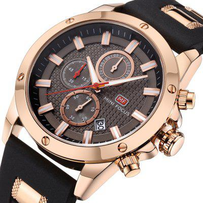 MINI FOCUS MF0089G Silicone Band Round Men WatchMens Watches<br>MINI FOCUS MF0089G Silicone Band Round Men Watch<br><br>Band material: Silicone<br>Band size: 24.6 x 2.4cm<br>Brand: MINI FOCUS<br>Case material: Alloy<br>Clasp type: Pin buckle<br>Dial size: 4.6 x 4.6 x 1.21cm<br>Display type: Analog<br>Movement type: Quartz watch<br>Package Contents: 1 x Watch<br>Package size (L x W x H): 26.60 x 6.60 x 3.21 cm / 10.47 x 2.6 x 1.26 inches<br>Package weight: 0.0990 kg<br>Product size (L x W x H): 24.60 x 4.60 x 1.21 cm / 9.69 x 1.81 x 0.48 inches<br>Product weight: 0.0790 kg<br>Shape of the dial: Round<br>Watch style: Business<br>Watches categories: Men<br>Water resistance: Life water resistant