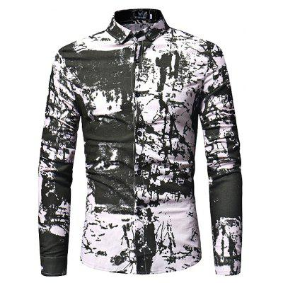 Stylish Long Sleeves Shirt with Motifs