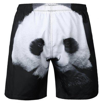 Mr 1991 INC Miss Go Panda Motif Beach Shorts