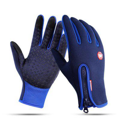 Pair of Touch Screen Full-finger Warm-keeping Gloves