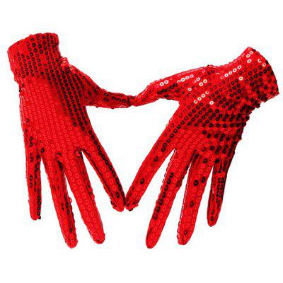 Women Cool Gloves with Sequins Dress Accessories for Party