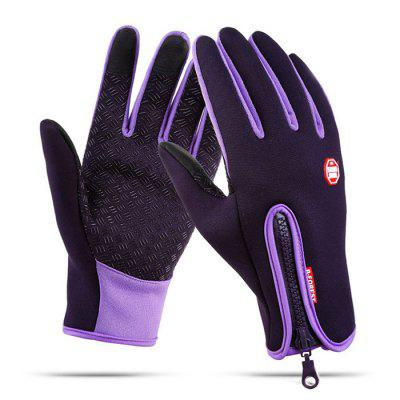Pair of Full-finger Touch Screen Waterproof Gloves