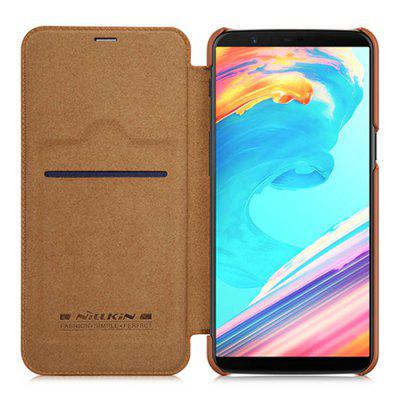 NILLKIN Solid Color Flip Phone Case for OnePlus 5T
