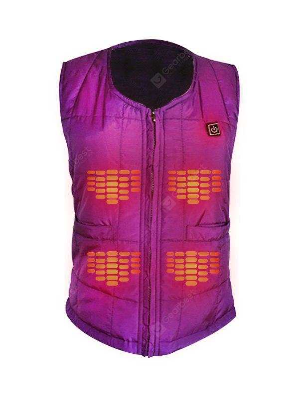 Men Stylish Warm Solid Color Electric Heated Vest