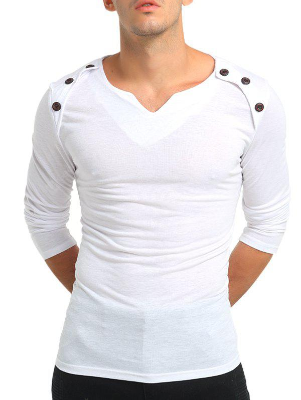 Fashion Solid Color Long Sleeves T-shirt