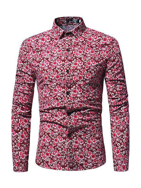 Stylish Floral Long Sleeves Shirt