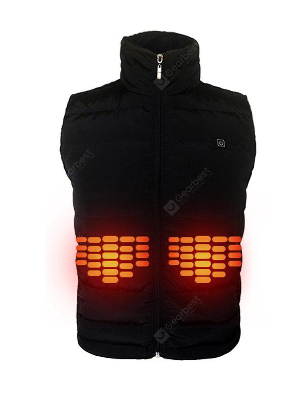 Men Trendy Warm Solid Color Electric Heated Vest