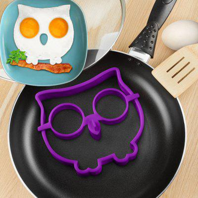 Innovative Owl Shape Silicone Egg Frying Mould Frying Pancake Mold Breakfast Mould Creative Kitchen Supplies for DIY Present