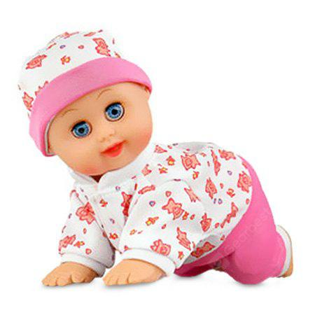 Electric Laugh Singing Crawling Doll Toy