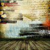 Graffiti Style Wooden Floor Pattern Photography Backdrop - COLORMIX