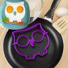 Innovative Owl Shape Silicone Egg Frying Mould Frying Pancake Mold Breakfast Mould Creative Kitchen Supplies for DIY Present - PURPLE