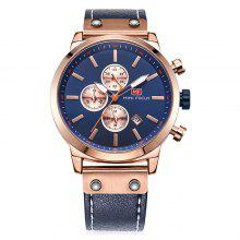 MINI FOCUS MF0110 Genuine Leather Band Men Watch
