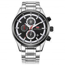 MINI FOCUS MF0081G Steel Band Men Watch