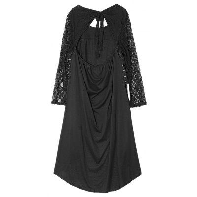 Lace Bare Back Bowknot High Low DressWomens Dresses<br>Lace Bare Back Bowknot High Low Dress<br><br>Dresses Length: Mid-Calf<br>Material: Cotton, Polyester<br>Neckline: Round Collar<br>Package Contents: 1 x Dress<br>Package size: 35.00 x 28.00 x 4.00 cm / 13.78 x 11.02 x 1.57 inches<br>Package weight: 0.4300 kg<br>Pattern Type: Solid Color<br>Product weight: 0.4000 kg<br>Season: Fall, Spring<br>Silhouette: High-Low<br>Sleeve Length: Long Sleeves<br>Style: Elegant<br>With Belt: No