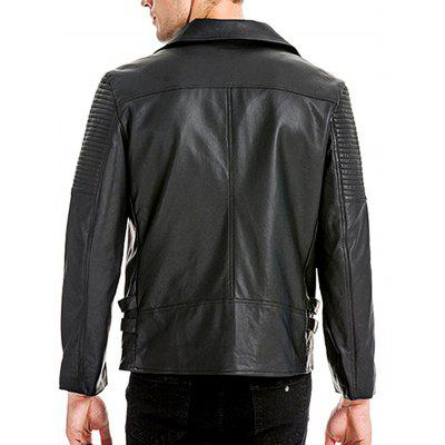Men Cool Leather JacketMens Jackets &amp; Coats<br>Men Cool Leather Jacket<br><br>Closure Type: Zipper<br>Clothes Type: Leather Jacket<br>Collar: Turn-down Collar<br>Embellishment: Others<br>Materials: PU<br>Occasion: Daily Use<br>Package Content: 1 x Leather Jacket<br>Package Dimension: 35.00 x 25.00 x 2.00 cm / 13.78 x 9.84 x 0.79 inches<br>Package weight: 1.0200 kg<br>Pattern Type: Solid<br>Product weight: 1.0000 kg<br>Seasons: Autumn,Winter<br>Shirt Length: Regular<br>Sleeve Length: Long Sleeves<br>Style: Fashion<br>Thickness: Medium thickness