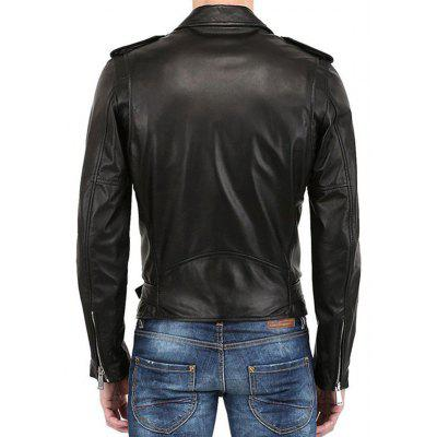 Men Cool Zipper Leather JacketMens Jackets &amp; Coats<br>Men Cool Zipper Leather Jacket<br><br>Closure Type: Zipper<br>Clothes Type: Leather Jacket<br>Embellishment: Others<br>Materials: PU<br>Occasion: Daily Use<br>Package Content: 1 x Leather Jacket<br>Package Dimension: 35.00 x 25.00 x 2.00 cm / 13.78 x 9.84 x 0.79 inches<br>Package weight: 0.8200 kg<br>Pattern Type: Solid<br>Product weight: 0.8000 kg<br>Seasons: Autumn,Winter<br>Shirt Length: Regular<br>Sleeve Length: Long Sleeves<br>Style: Fashion<br>Thickness: Medium thickness