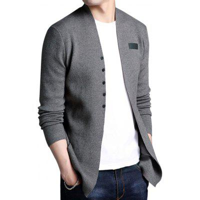 Male Fashion Slim Fit CardiganMens Sweaters &amp; Cardigans<br>Male Fashion Slim Fit Cardigan<br><br>Closure Type: Button<br>Material: Cotton, Viscose<br>Package Contents: 1 x Cardigan<br>Package size: 35.00 x 25.00 x 2.00 cm / 13.78 x 9.84 x 0.79 inches<br>Package weight: 0.5200 kg<br>Pattern: Solid Color<br>Product weight: 0.5000 kg<br>Style: Brief<br>Thickness: Regular