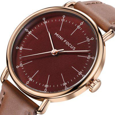 MINI FOCUS MF0056G Men Quartz WatchMens Watches<br>MINI FOCUS MF0056G Men Quartz Watch<br><br>Band material: Genuine Leather<br>Brand: MINI FOCUS<br>Case material: Alloy<br>Clasp type: Pin buckle<br>Display type: Analog<br>Movement type: Quartz watch<br>Package Contents: 1 x Watch<br>Package size (L x W x H): 30.70 x 6.20 x 2.98 cm / 12.09 x 2.44 x 1.17 inches<br>Package weight: 0.0640 kg<br>Product size (L x W x H): 24.50 x 4.20 x 0.98 cm / 9.65 x 1.65 x 0.39 inches<br>Product weight: 0.0440 kg<br>Shape of the dial: Round<br>Watch mirror: Acrylic<br>Watch style: Business, Casual, Fashion<br>Watches categories: Men