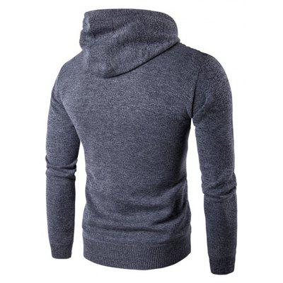Male Casual Hooded PU Spliced Zip Up SweaterMens Sweaters &amp; Cardigans<br>Male Casual Hooded PU Spliced Zip Up Sweater<br><br>Package Contents: 1 x Sweater<br>Package size: 35.00 x 25.00 x 2.00 cm / 13.78 x 9.84 x 0.79 inches<br>Package weight: 0.5200 kg<br>Product weight: 0.5000 kg