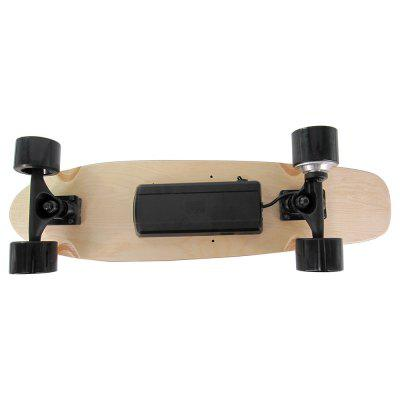 H2S - 01 350W Hub Motor 4-wheel Electric SkateboardKick Scooter<br>H2S - 01 350W Hub Motor 4-wheel Electric Skateboard<br><br>Battery: Li- ion<br>Battery Capacity: 2200mAh<br>Charger type: US plug<br>Charging Time: 90 Minutes<br>Folding Type: Non-folding<br>For: Teenagers, Office Workers<br>Input Voltage: AC 100-240V<br>Max Payload: 60kg<br>Maximum Mileage: 10km<br>Maximum Speed: 20km/h<br>Mileage (depends on road and driver weight): 8-15km<br>Motor Rated Power: 350W<br>Package Content: 1 x Skateboard, 1 x Battery, 1 x Remote Control, 1 x Charger, 1 x T Wrench, 1 x English Manual<br>Package size: 70.00 x 24.00 x 18.00 cm / 27.56 x 9.45 x 7.09 inches<br>Package weight: 5.7000 kg<br>Pedal Ground Clearance (no weight bearing): 14cm<br>Product size: 65.00 x 22.00 x 14.00 cm / 25.59 x 8.66 x 5.51 inches<br>Product weight: 3.9000 kg<br>Seat Type: without Seat<br>Type: E-Wheel Skateboard<br>Wheel Number: 4 Wheel