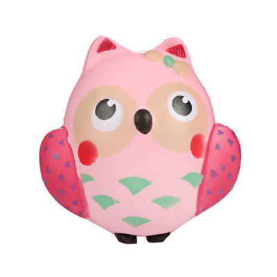 PU Simulated Owl Jumbo Squishy Toy for Pressure Relief 1pc