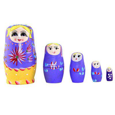 WUIBN Handmade Crafts Russian Matryoshka Doll Toy 5pcs