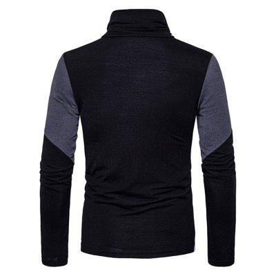 Male Fashion Spliced Color Turtleneck Slim SweaterMens Sweaters &amp; Cardigans<br>Male Fashion Spliced Color Turtleneck Slim Sweater<br><br>Package Contents: 1 x Sweater<br>Package size: 35.00 x 25.00 x 2.00 cm / 13.78 x 9.84 x 0.79 inches<br>Package weight: 0.4200 kg<br>Product weight: 0.4000 kg
