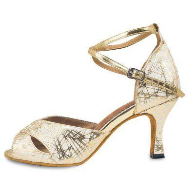 Women Lustrous Soft Latin Waltz Dance High Heel PumpsWomens Pumps<br>Women Lustrous Soft Latin Waltz Dance High Heel Pumps<br><br>Closure Type: Buckle Strap<br>Contents: 1 x Pair of Shoes<br>Function: Slip Resistant<br>Lining Material: Cotton Fabric<br>Materials: Fabric, Leather, PU<br>Occasion: Tea Party, Shopping, Party, Holiday, Casual, Daily, Dancing<br>Outsole Material: Leather<br>Package Size ( L x W x H ): 27.00 x 17.00 x 10.00 cm / 10.63 x 6.69 x 3.94 inches<br>Package weight: 0.6100 kg<br>Product weight: 0.5100 kg<br>Seasons: Spring,Summer<br>Style: Modern, Leisure, Fashion, Comfortable, Casual<br>Toe Shape: Open Toe<br>Type: Pumps<br>Upper Material: PU