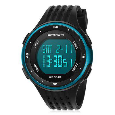 Sanda 338 Plastic Band Dual Time Men Digital WatchMens Watches<br>Sanda 338 Plastic Band Dual Time Men Digital Watch<br><br>Band material: Plastic<br>Band size: 22 x 2.5cm<br>Brand: Sanda<br>Case material: ABS<br>Clasp type: Pin buckle<br>Dial size: 5 x 5 x 1.3cm<br>Display type: Digital<br>Movement type: Digital watch<br>Package Contents: 1 x Watch<br>Package size (L x W x H): 24.00 x 7.00 x 3.30 cm / 9.45 x 2.76 x 1.3 inches<br>Package weight: 0.0690 kg<br>Product size (L x W x H): 22.00 x 5.00 x 1.30 cm / 8.66 x 1.97 x 0.51 inches<br>Product weight: 0.0490 kg<br>Shape of the dial: Round<br>Special features: Stopwatch, Luminous, Day, Date, Alarm Clock<br>Watch mirror: Acrylic<br>Watch style: Fashion, Outdoor Sports, Casual<br>Watches categories: Men<br>Water resistance: 30 meters