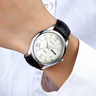 Sanda 213 Business Leather Band Men Quartz WatchMens Watches<br>Sanda 213 Business Leather Band Men Quartz Watch<br><br>Band material: Leather<br>Band size: 25.5 x 1.9cm<br>Brand: Sanda<br>Case material: Alloy<br>Clasp type: Pin buckle<br>Dial size: 4.2 x 4.2 x 1.1cm<br>Display type: Analog<br>Movement type: Quartz watch<br>Package Contents: 1 x Watch<br>Package size (L x W x H): 27.50 x 6.20 x 3.10 cm / 10.83 x 2.44 x 1.22 inches<br>Package weight: 0.0640 kg<br>Product size (L x W x H): 25.50 x 4.20 x 1.10 cm / 10.04 x 1.65 x 0.43 inches<br>Product weight: 0.0440 kg<br>Shape of the dial: Round<br>Watch mirror: Mineral glass<br>Watch style: Fashion, Business<br>Watches categories: Men