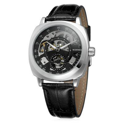 Winner U8023 Leather Band Men Mechanical WatchMens Watches<br>Winner U8023 Leather Band Men Mechanical Watch<br><br>Band material: Leather<br>Band size: 29.4 x 2.2cm<br>Brand: Winner<br>Case material: Alloy<br>Clasp type: Pin buckle<br>Dial size: 4.4 x 4.4 x 1.4cm<br>Display type: Analog<br>Movement type: Automatic mechanical watch<br>Package Contents: 1 x Watch<br>Package size (L x W x H): 31.40 x 6.40 x 3.40 cm / 12.36 x 2.52 x 1.34 inches<br>Package weight: 0.1200 kg<br>Product size (L x W x H): 29.40 x 4.40 x 1.40 cm / 11.57 x 1.73 x 0.55 inches<br>Product weight: 0.1000 kg<br>Shape of the dial: Round<br>Watch mirror: Acrylic<br>Watch style: Fashion<br>Watches categories: Men