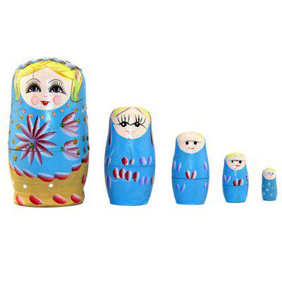 WUIBN Handmade Crafts Russian Matryoshka Doll Toy 5pcsMovies &amp; TV Action Figures<br>WUIBN Handmade Crafts Russian Matryoshka Doll Toy 5pcs<br><br>Brand: WUIBN<br>Completeness: Finished Goods<br>Gender: Unisex<br>Materials: Wood<br>Package Contents: 5 x Doll Toy<br>Package size: 14.40 x 7.00 x 7.00 cm / 5.67 x 2.76 x 2.76 inches<br>Package weight: 0.1600 kg<br>Product size: 11.70 x 6.50 x 6.50 cm / 4.61 x 2.56 x 2.56 inches<br>Product weight: 0.1530 kg<br>Stem From: Other<br>Theme: Game