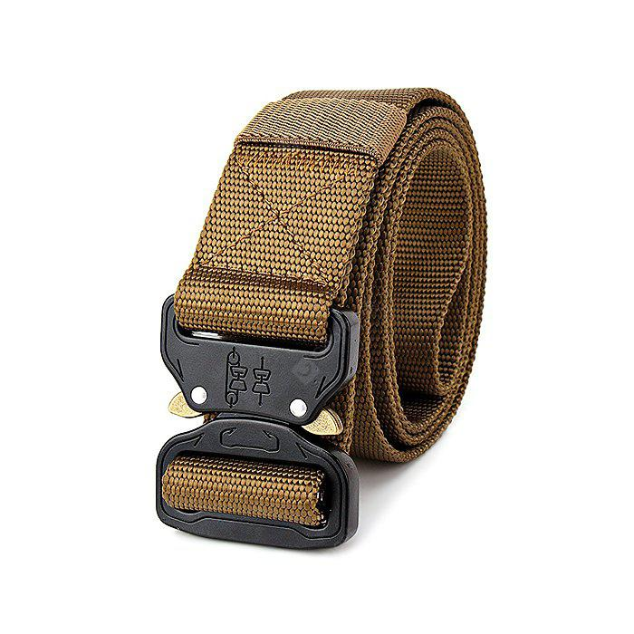 Male Outdoor Tactical Training Belt with Quick Release Buckle