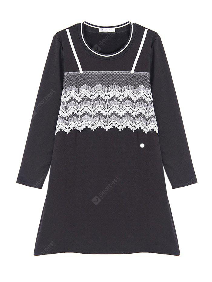 Plus Size Lace Jointed Dress