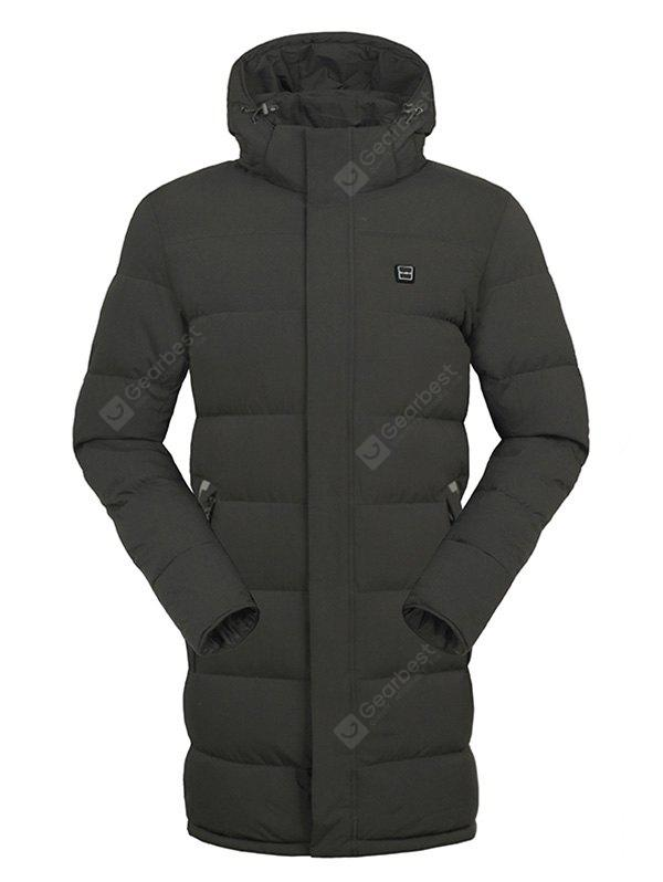 Warm Solid Color Electric Heated Long Padded Coat