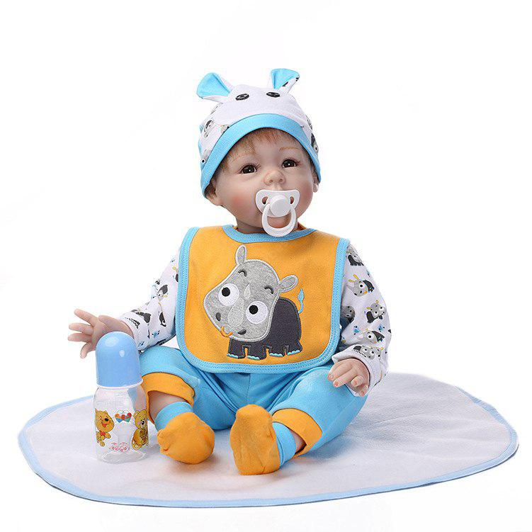 Emulate Baby Reborn Doll Soft Silicone Kids Toy