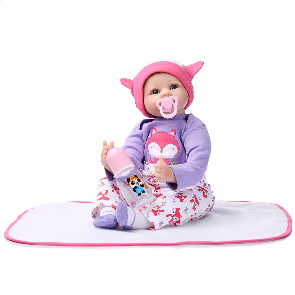 Emulate Baby Reborn Doll Soft Silicone Baby Toy