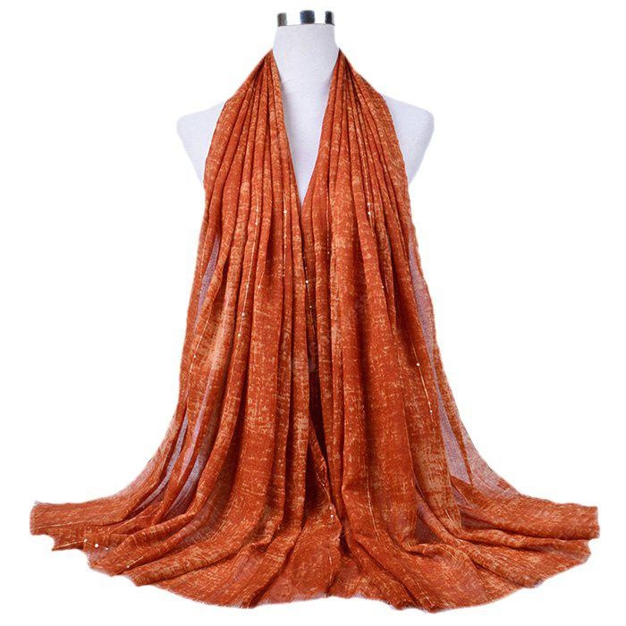 Soft Sequins Tassels Cotton Scarf