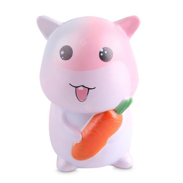 Jumbo Squishy Stress Relief Hamster PU Toy Decoration 1pc