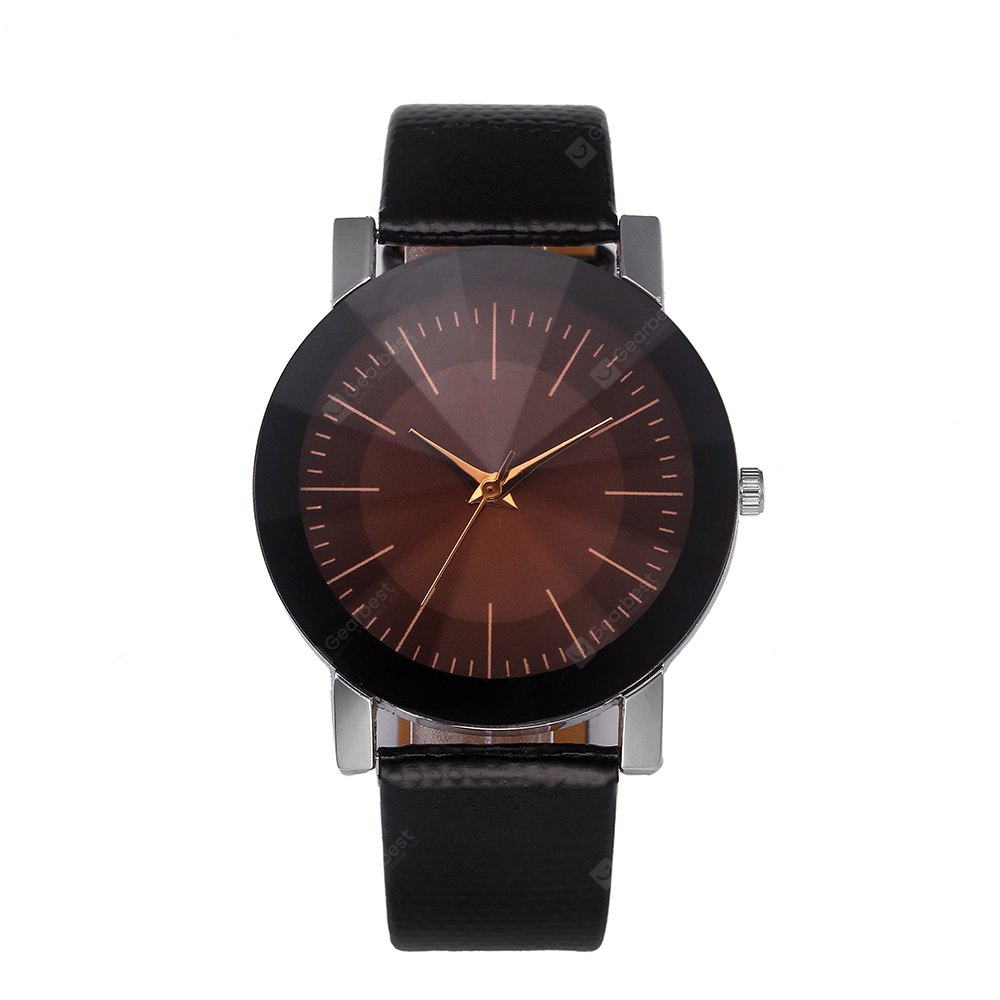 Fashionable Leather Band Men Watch