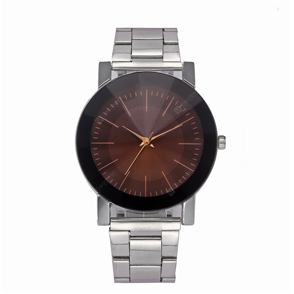 Fashionable Steel Band Men Quartz Watch