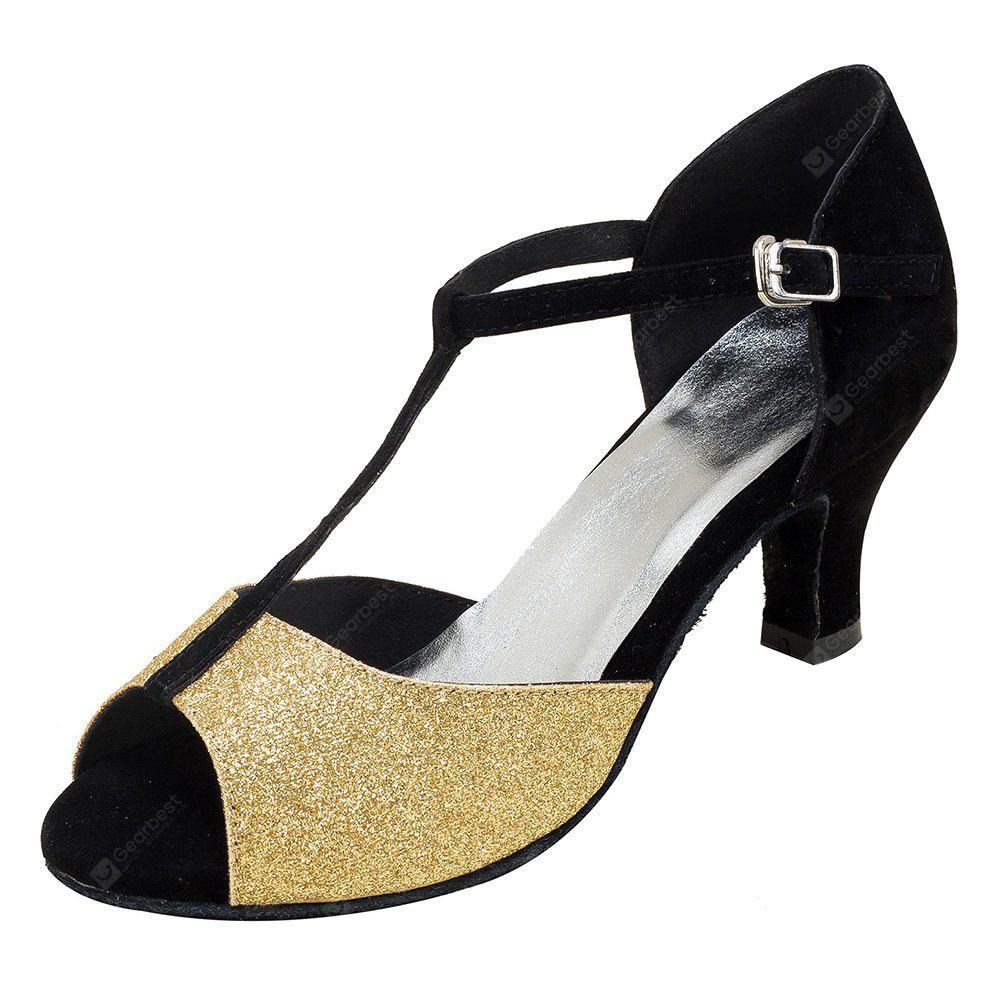 Women Charm Glitter Soft Latin Waltz Dance Pumps