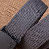 Male Thickened Trendy Tactical Training Canvas Belt - DEEP GRAY