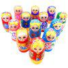 WUIBN Handmade Crafts Russian Matryoshka Doll Toy 5pcs - COLORMIX