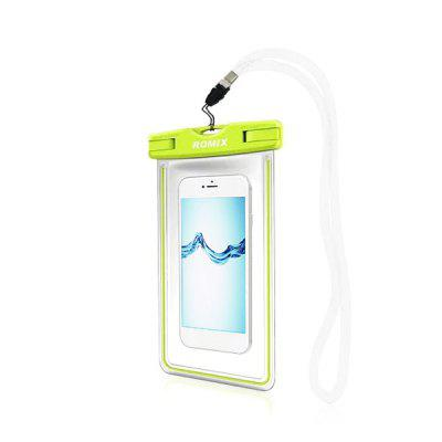 ROMIX RH11 Waterproof Luminous Cellphone BagOther Water Sports Accessories<br>ROMIX RH11 Waterproof Luminous Cellphone Bag<br><br>Brand: ROMIX<br>Package Content: 1 x Phone Bag, 1 x Strap, 1 x Blister<br>Package size: 12.00 x 2.00 x 15.00 cm / 4.72 x 0.79 x 5.91 inches<br>Package weight: 0.0870 kg<br>Product size: 11.50 x 1.50 x 20.00 cm / 4.53 x 0.59 x 7.87 inches<br>Product weight: 0.0400 kg
