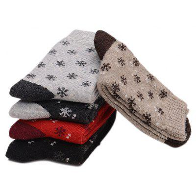 5 Paired Women Snowflake Pattern Keep Warm Thicken SocksWomens Socks &amp; Hosieries<br>5 Paired Women Snowflake Pattern Keep Warm Thicken Socks<br><br>Contents: 5 x Pair of Socks<br>Gender: Women<br>Package size (L x W x H): 24.00 x 4.00 x 8.00 cm / 9.45 x 1.57 x 3.15 inches<br>Package weight: 0.0210 kg<br>Product weight: 0.0200 kg<br>Style: Casual<br>Type: Socks